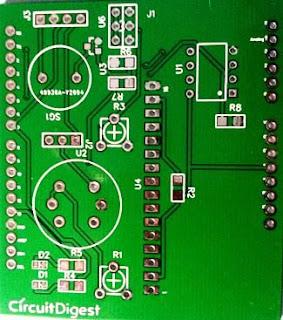 Detector de humo con Arduino Shield fabricado.