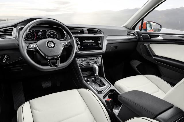 Interior view of 2019 Volkswagen Tiguan