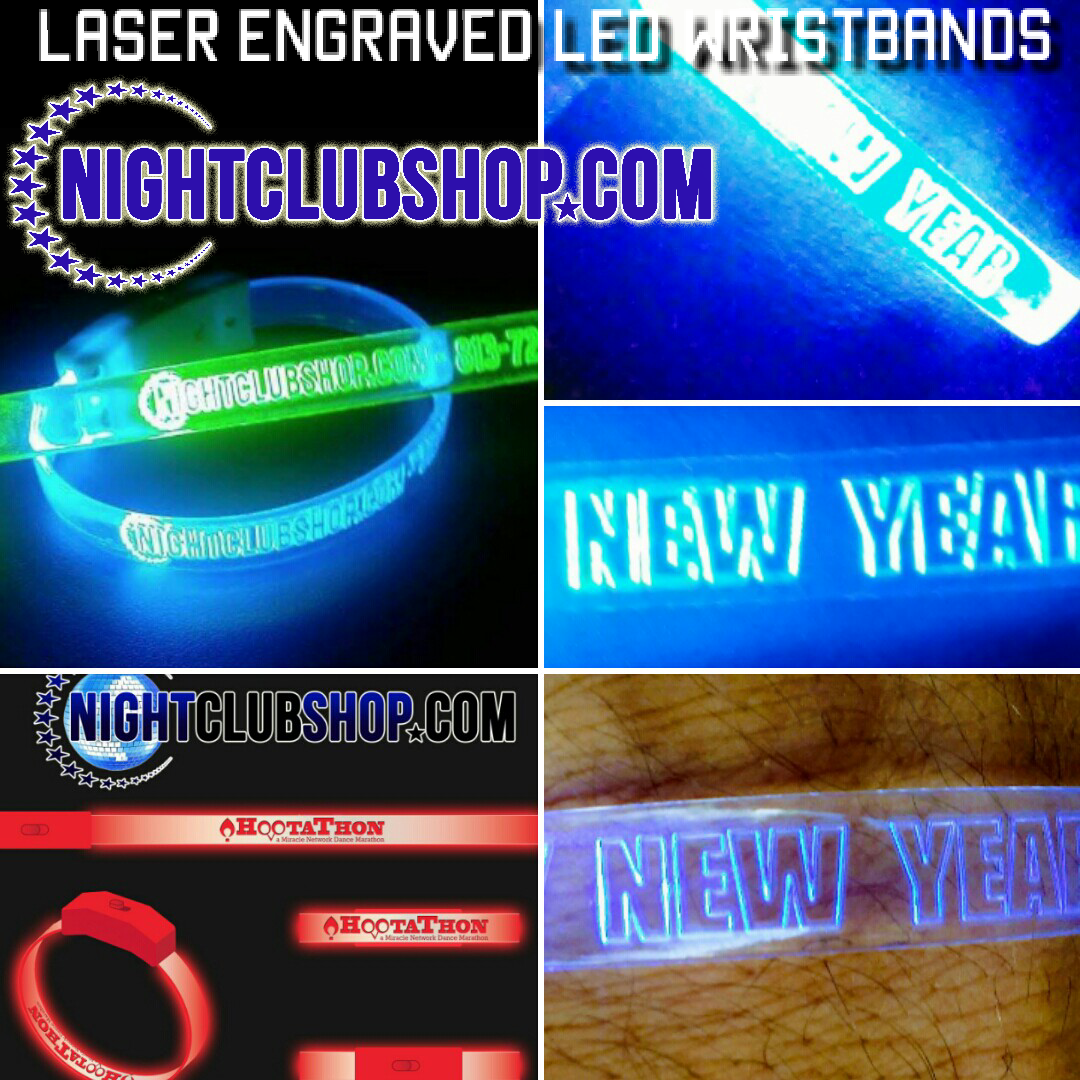 Led furniture blog page 2 of 5 customized designs - Custom Laser Engraved Led Wrist Bands For New Years Eve Party