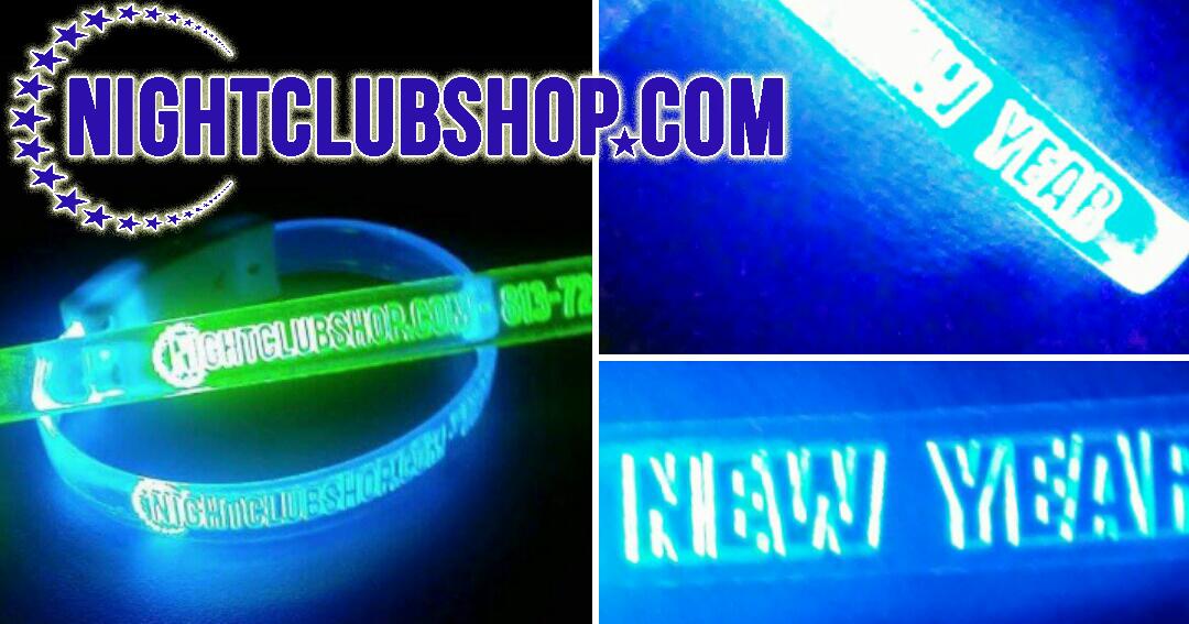 NightclubShop: CUSTOM u0026quot;LED WRISTBANDSu0026quot; Optical Engraved ...