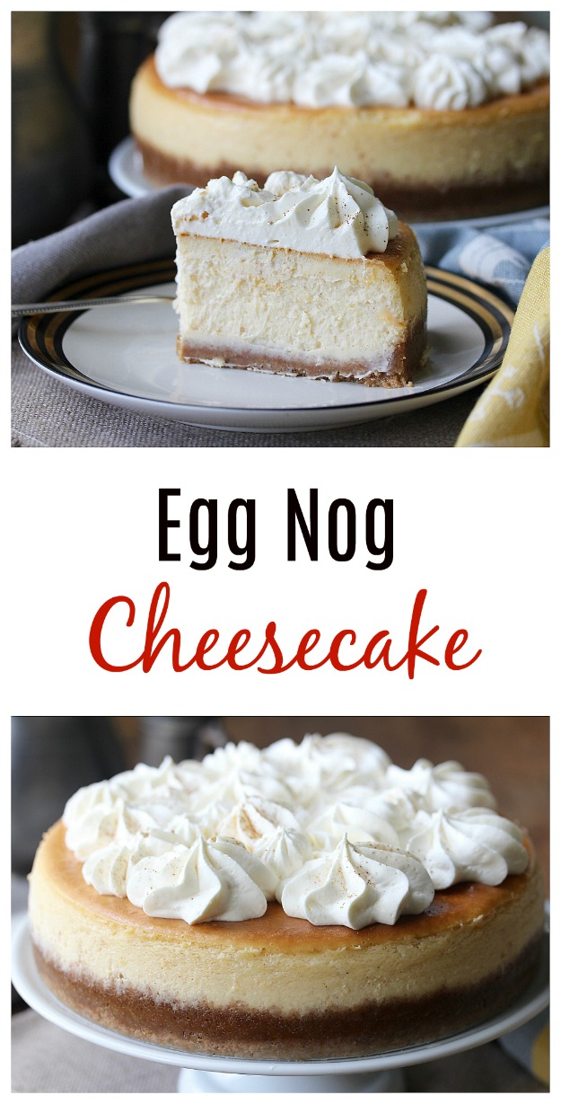 Egg Nog Cheesecake #cheesecake #eggnog #cake #dessert