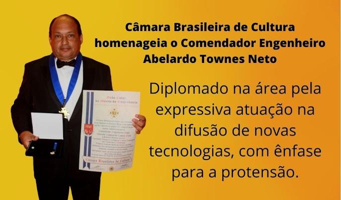 Comendador engenheiro civil Abelardo Townes Neto recebe outorga da Câmara Brasileira de Cultura