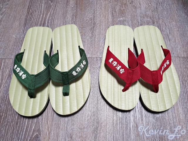 東旅湯宿溫泉飯店-風華漾館日式風格的室內拖鞋