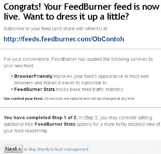 buat feedburner