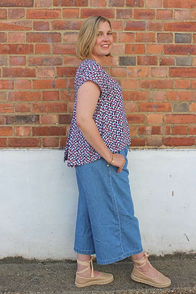 Louise's pleat back Stevie hack - Tilly and the Buttons