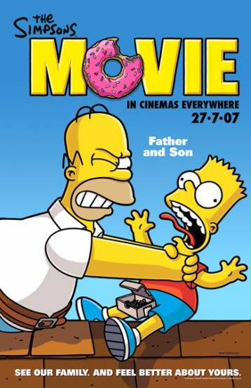 Movie Poster The Simpsons Movie 2007 animatedfilmreviews.filminspector.com