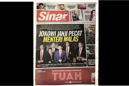 Ancam Pecat Menteri Malas, Jokowi Jadi Headline Di Malaysia