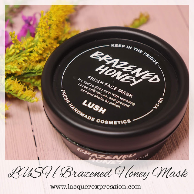 Review of the cruelty-free, clay-based, ginger and honey Brazened Honey facial mask from LUSH
