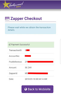 Zapper - Hollywoodbets - How to Deposit - Step 10