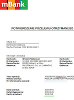 Panel Poznaj.to — dowód wypłaty 2020.