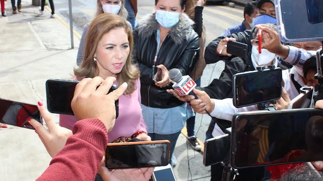 Llama Paola Angon a la no violencia en la contienda electoral en San Pedro Cholula
