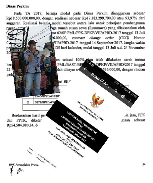 Salinan temuan BPK soal pembangunan Rusunawa di Asahan.