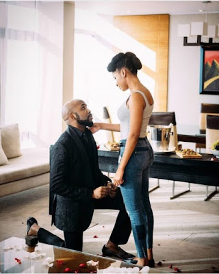 Banky W's engagement to Adesua electrifies social media