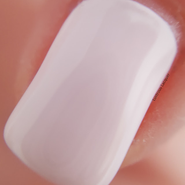 Pale pink nail polish with a creme finish from the Pastel City Collection