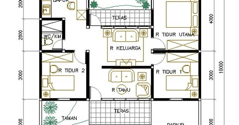 inspirasi 36+ denah rumah dengan luas tanah 6x15
