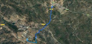 mapa acceso mina Cala