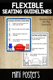 Cover of flexible seating guidelines freebie