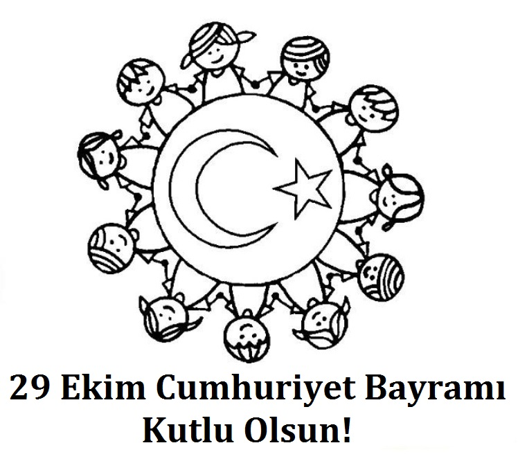 29 Ekim Cumhuriyet Bayrami Boyama Sayfalari Dersteknik Com