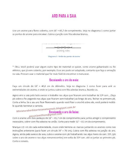 PAP em Português do Vestido de crochê de luxo para Barbie página 7