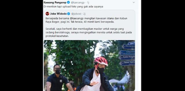 Kaesang Protes Ke Jokowi Fotonya Tidak Ikut Diupload Di Twitter