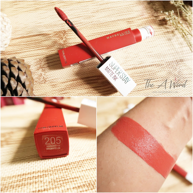 REVIEW Maybelline Super Stay Matte Ink 205 Assertive