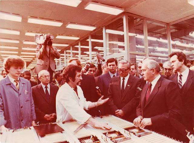 Февраль 1987 года. Рига. Горбачев на ВЭФе (VEF vēstures muzejs)