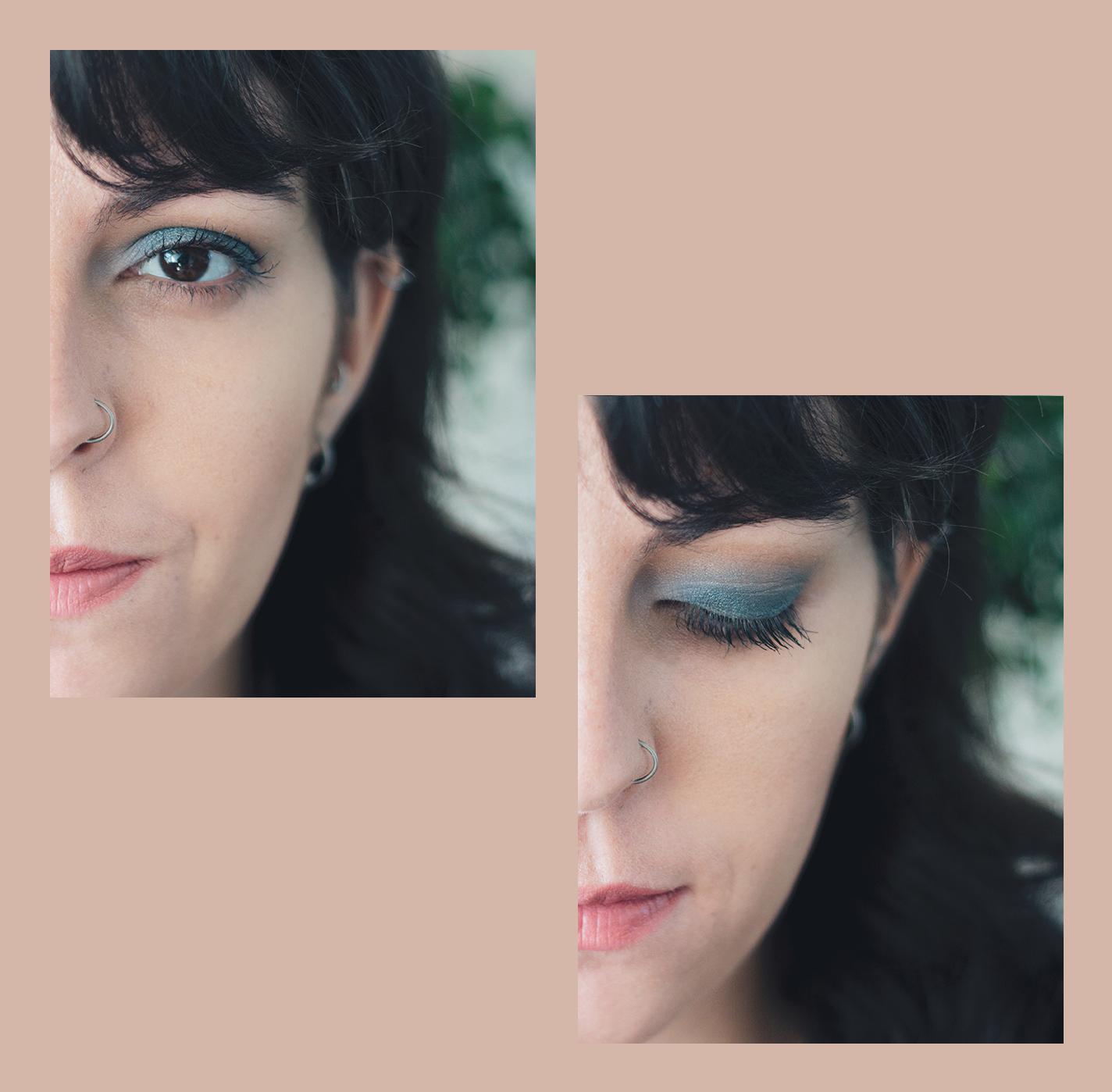 look de olhos azul
