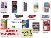 Con l'acquisto di 19,90€ in prodotti cartoleria, subito lo sconto del 25% ! solo per pochi giorni