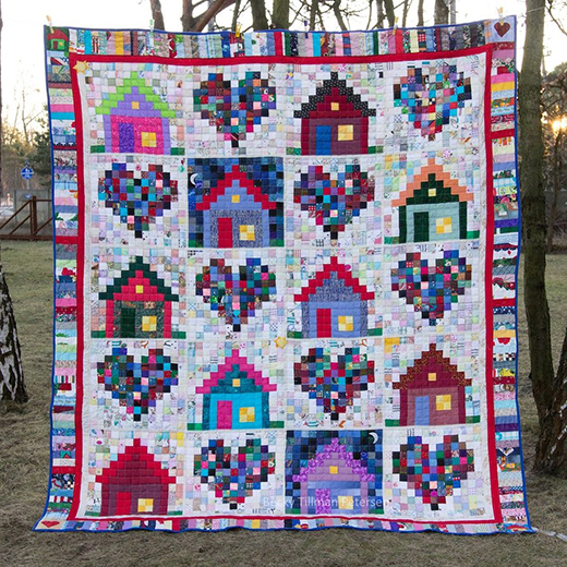 Warm Fuzzies Quilt Designed by Becky Petersen of Quilted Twins