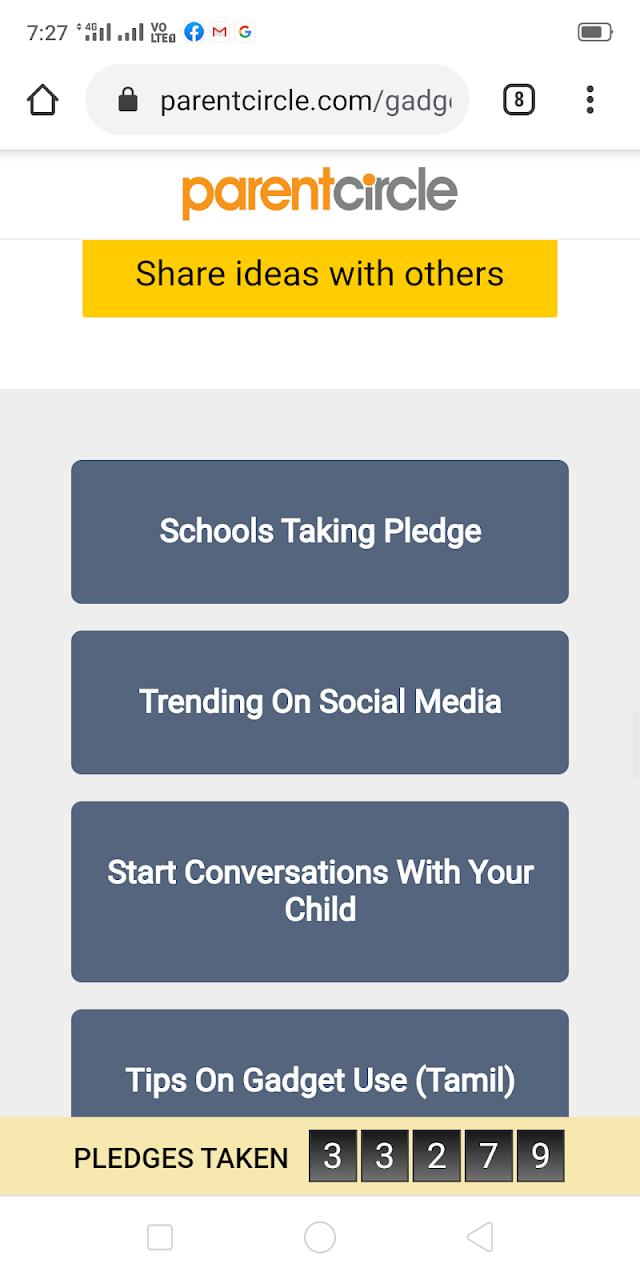 Children's Day - #gadgetfreehour - School Registration - Direct Link