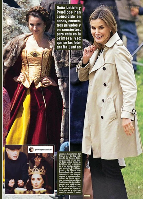 she chose to visit the set arms linked with Jorge Sanz and hand in hand with Penélope Cruz