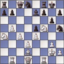 Partida de ajedrez José Paredes - Circol Isern, posición despues de 21.Cf5!
