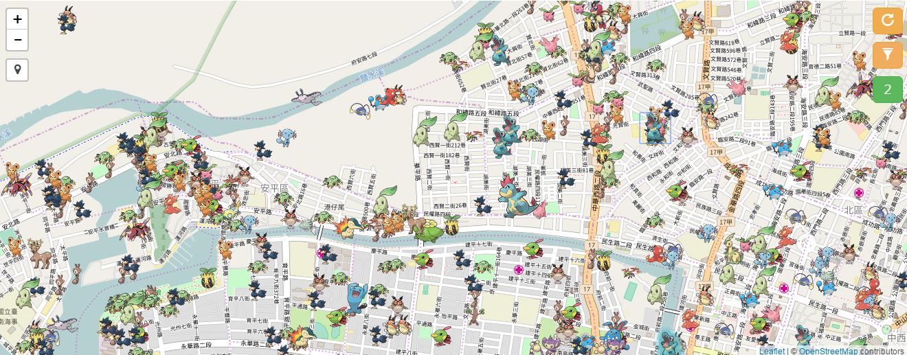 Image%2B004 - Pokemon Go 網頁雷達地圖 - 大家找寶貝、重出江湖!支援第二代寶可夢,怪物超密集!