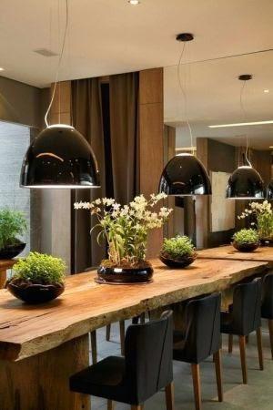 verdinhos decorando a mesa