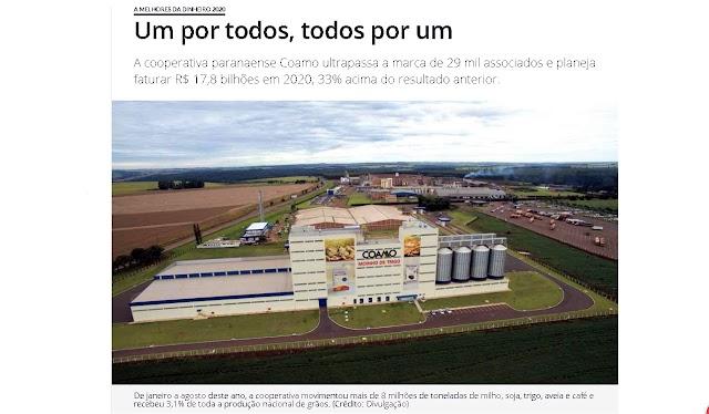 Coamo é a Melhor Cooperativa Agrícola do Brasil