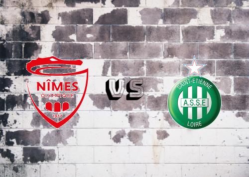 Nîmes vs Saint-Étienne  Resumen