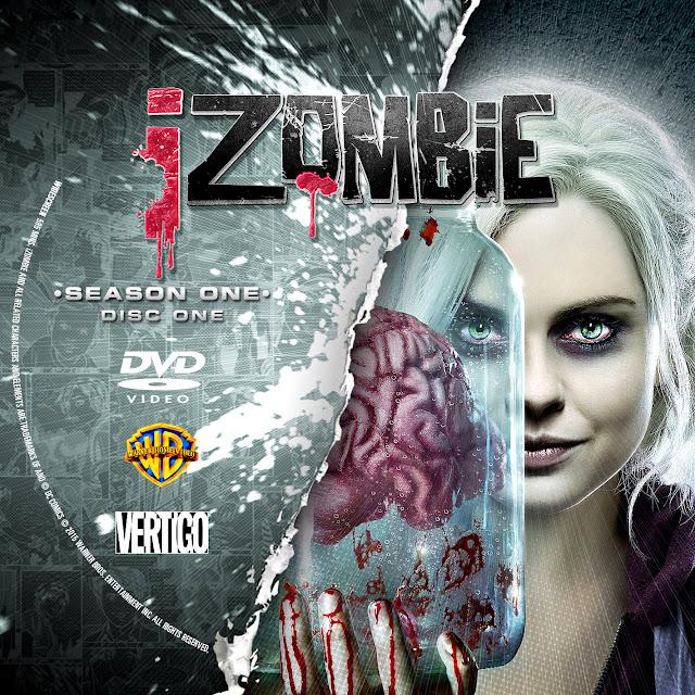Label DVD IZombie Primeira Temporada D1 a D3