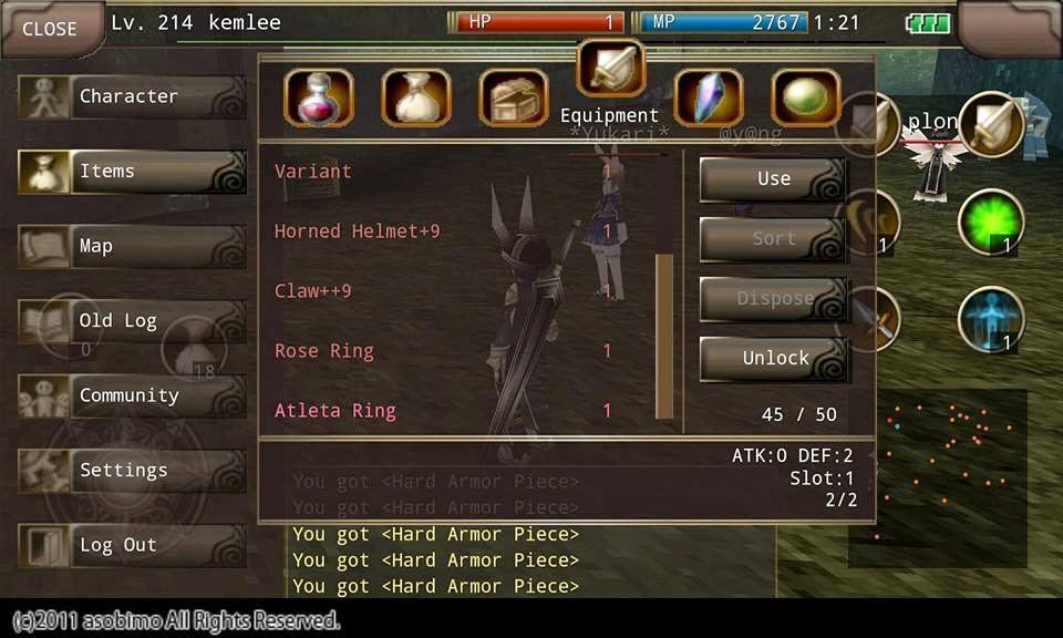 Iruna online slot item