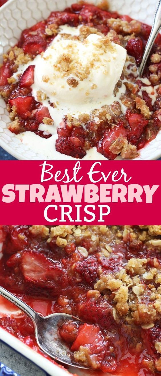 STRAWBERRY CRISP RECIPE (THE BEST SUMMER DESSERT)