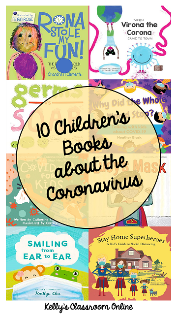 A compilation of ten children's books about the coronavirus (COVID-19).  Fiction and nonfiction books are included in the list.