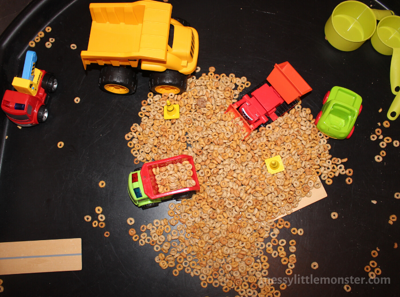 edible sensory bin for toddlers