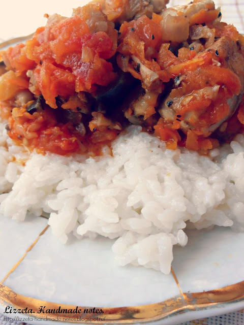 Жаркое из курицы, помидоров и баклажан по рецепту Лиззеты | ХорошоГромко.ру