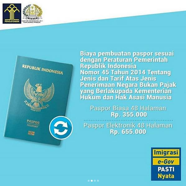 biaya pembuatan paspor 2019