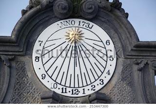 Analog sundial become digital