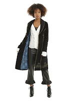 DOCTOR WHO EMBROIDERED TARDIS GIRLS CORDUROY COAT