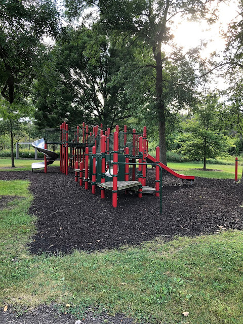 Large playground at Old School Forest Preserve.