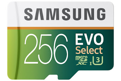 Samsung 256GB 95MB/s MicroSDXC EVO Select Memory Card with Adapter For Galaxy S8 Plus