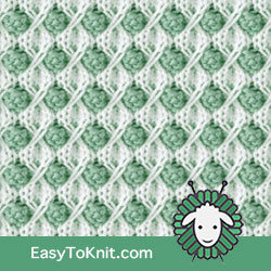 Textured Knitting 20: Snowball | Easy to knit #knittingstitches #knittingpattern