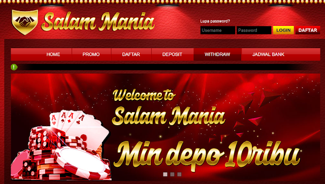 SALAMMANIA Situs Game Judi Poker Online Indonesia Terpercaya