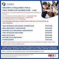 Two Wheeler Workshop Vacancy in UAE